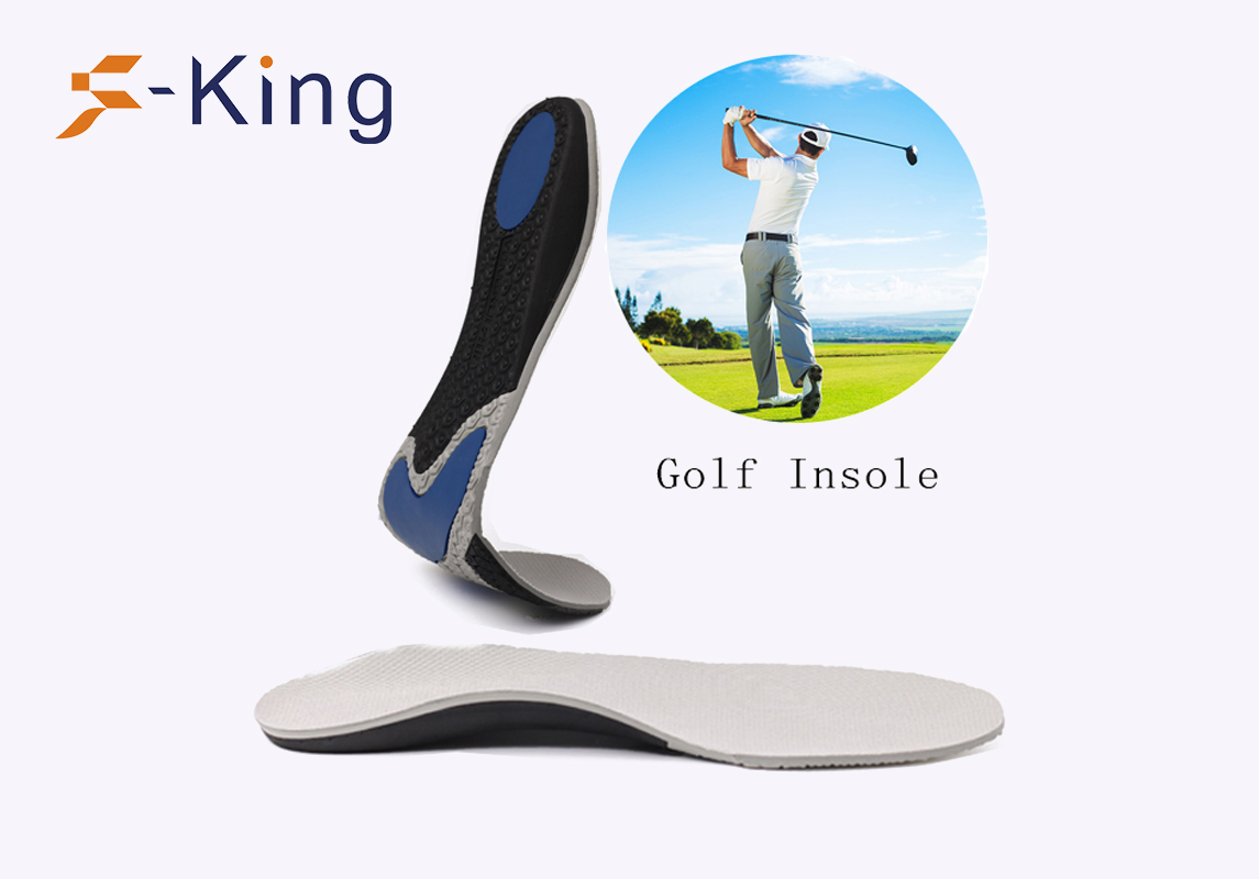 S-King-Foot Insoles Anti Slip Shock Absorption Full Length Eva Golf Insole