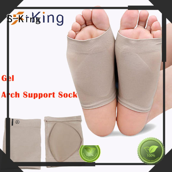 Custom care feet arch support socks S-King flat