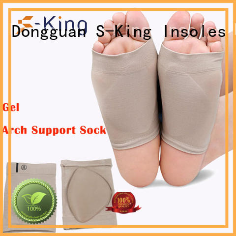 plantar silicone foot S-King Brand arch support socks supplier