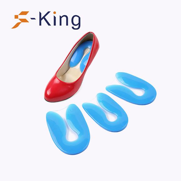 U-shaped gel silicone heel cushion, shock absorption orthotic cushion plantar spur support heel cup