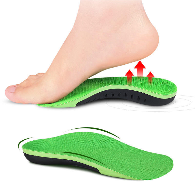 Comfortable arch support insole sports shock absorption leisure half pad for flat arch support