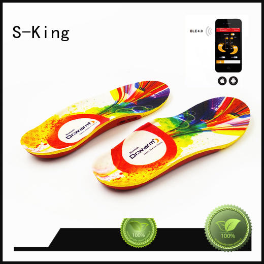 power heated S-King Brand battery heated insoles