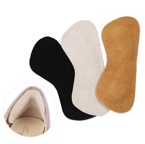 Memory foam back heel liner pads leather arch support heel liner leather shoe liner grips kit