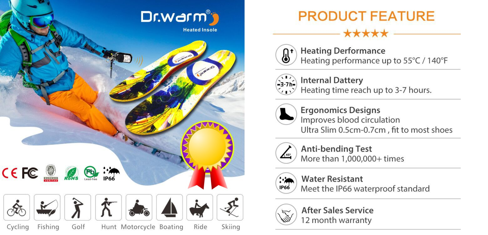 product-Remote Control Shoes Heated Insoles Rechargeable Usb Heated Warmer Insole with Electric Batt-12