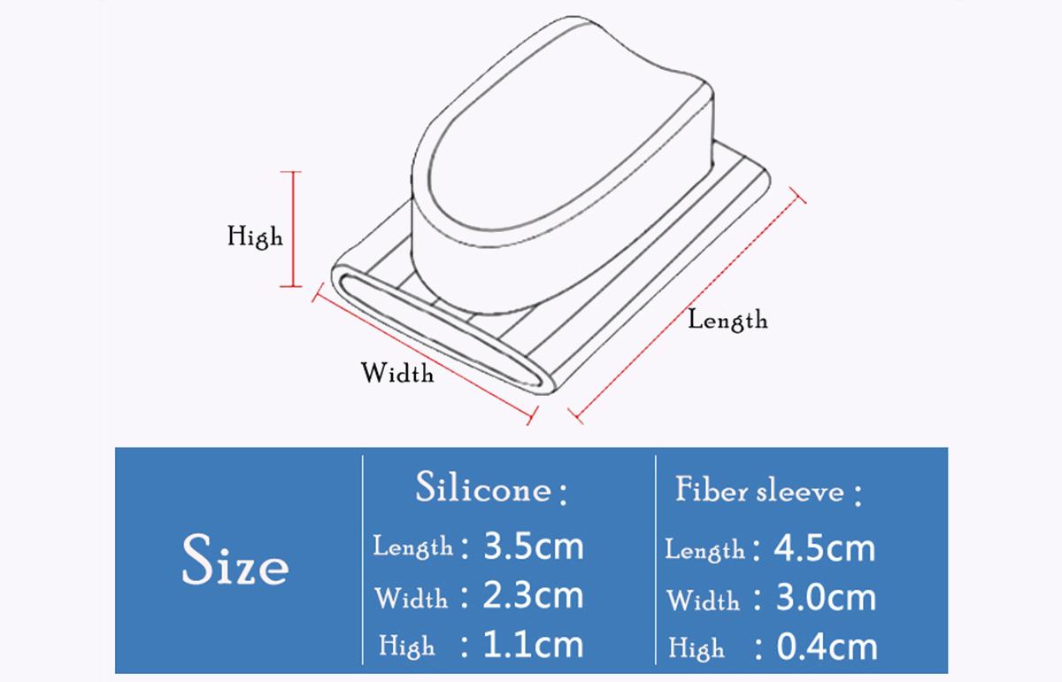 S-King-Quality Gel Hallux Valgus, Bunion Toe Separator, Gel Toe Stretchers