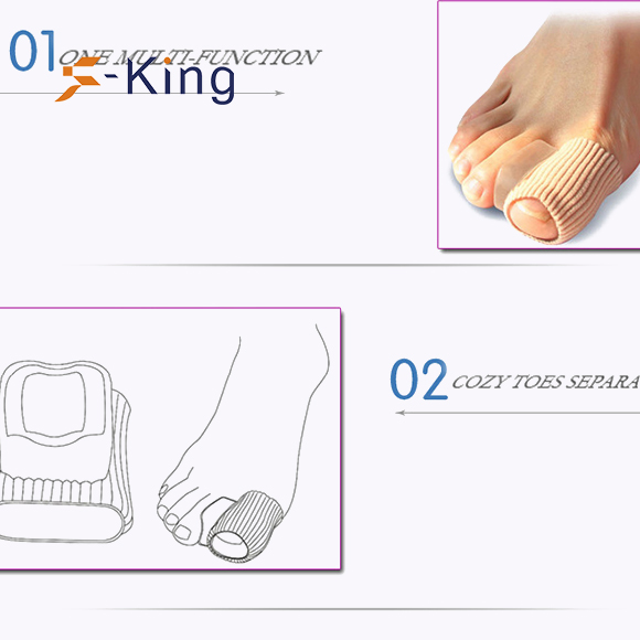 S-King-Find Silicone Gel Toe Separators gel Toe Separator On S-king Insoles