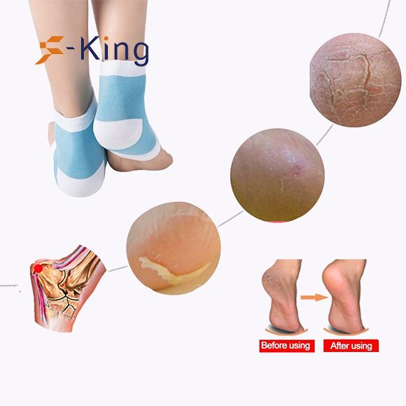 S-King-Cooling Gel Heel Insole Socks For Spa, Foot Moisturising Socks