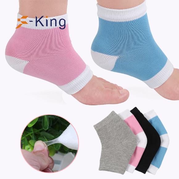 S-King-Cooling Gel Heel Insole Socks For Spa, Foot Moisturising Socks-2