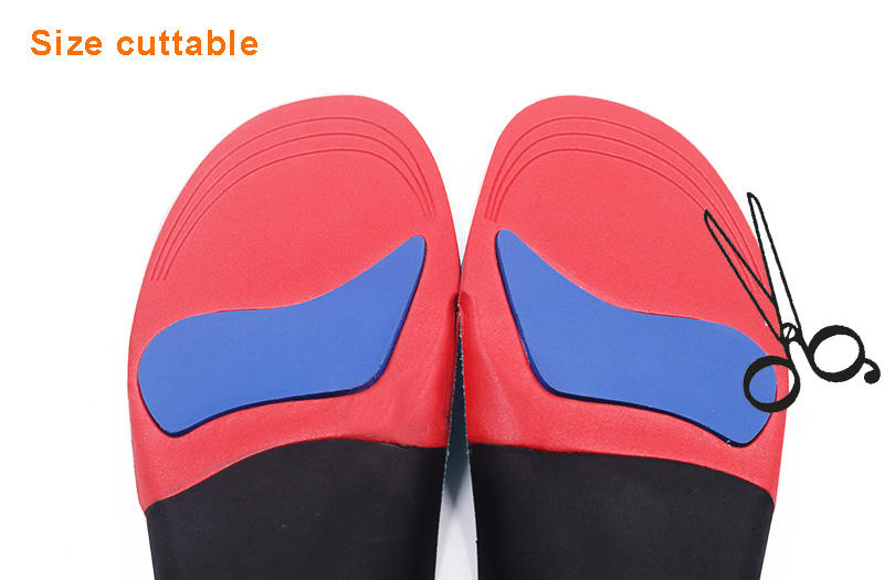 Orthotic Insoles Hard EVA plantar fasciitis arch support bowlegs correction with Poron foot pad