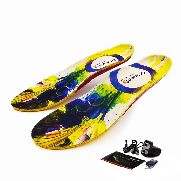 Remote Control Shoes Heated Insoles Rechargeable Usb Heated Warmer Insole with Electric Battery