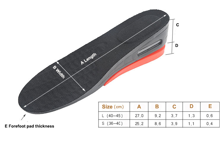 S-King-Find Height Increasing Elevator Shoes Insoles, Shoe Insert Height