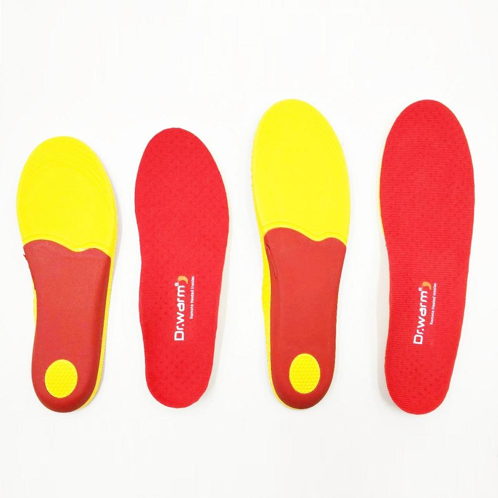 Heated insole foot warmer Electric Dr.warm M4 USB rechargeable remote control