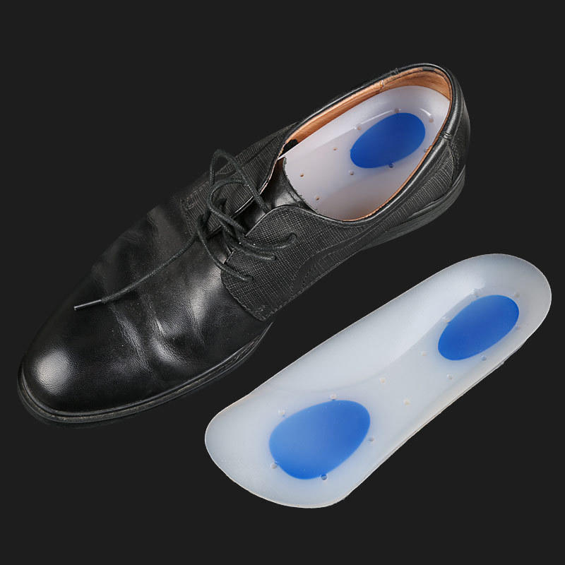 Silicone Insoles Arch Support Orthopedic Silicone Shoe Inserts Heel Cups 3/4 Pain Relief Plantar Fasciitis Insoles