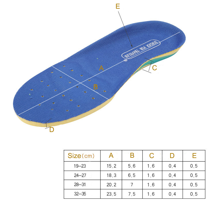 S-King-Manufacturer Of Kids Shoe Insoles Children Shoe Insoles Gel Pad Cushioning
