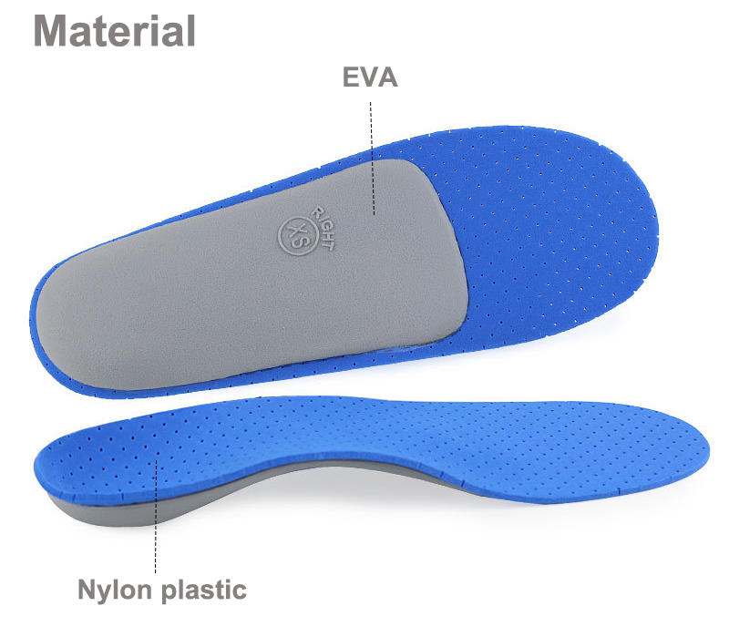Orthopedic shoe inserts Unisex Breathable pain relief High arch support cushioning anti sweat
