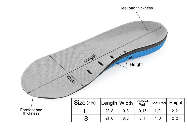 Half length massage shoe insoles Arch support flat foot orthotic shock absorption breathable