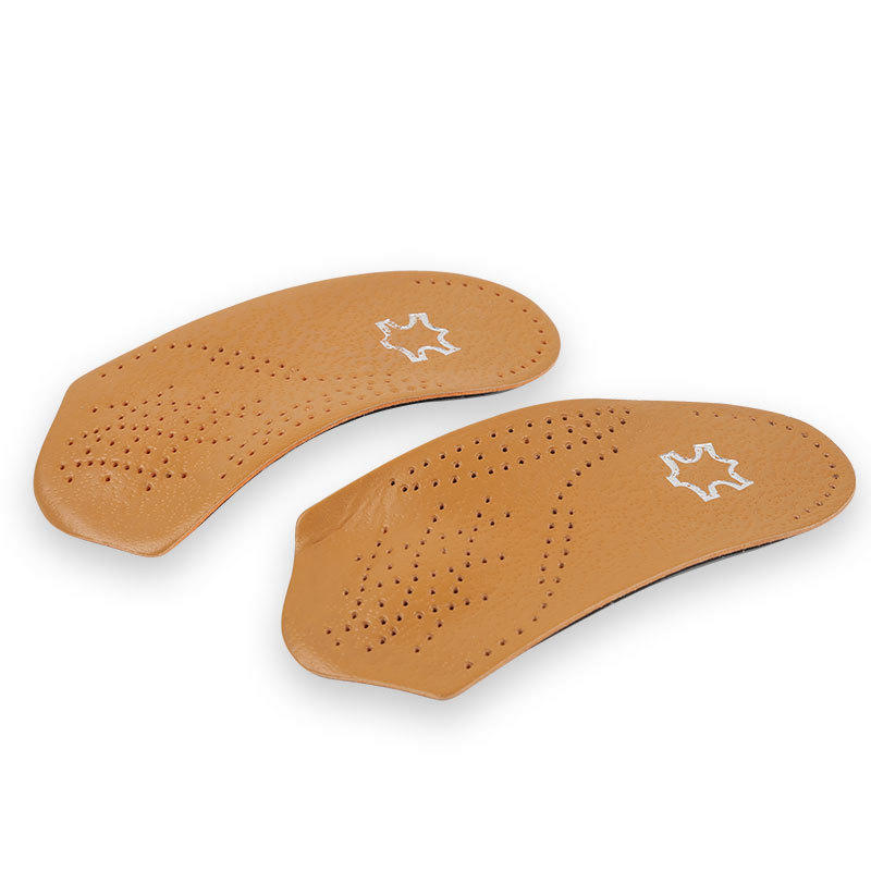 Orthotic Shoe Insoles 3/4 Microfiber leather anti slip high arch support Plantar fasciitis