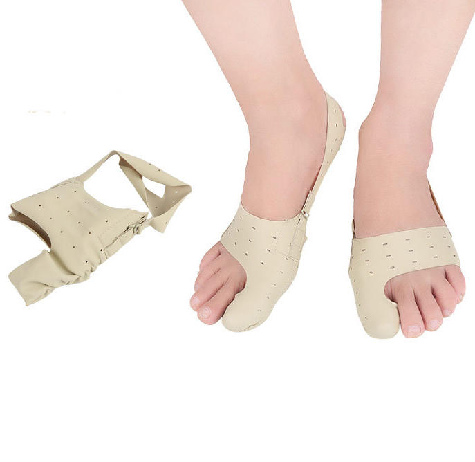 Bunion Pain Relief Hallux Valgus Correction , Leather Hallux Valgus Orthotic Belt for Thumb