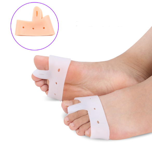 Silicone gel foot metatarsal pad with toe spreader high impact pressure shock absorption