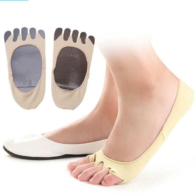 Full Length five toe separator sock with Anti Slip arch support and breathable forefoot pad