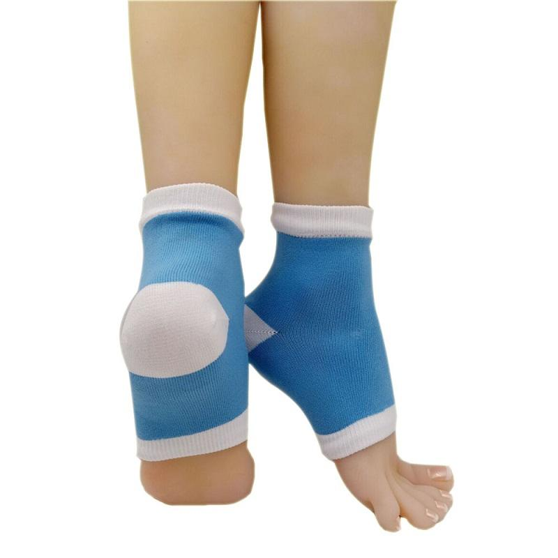 Cooling gel heel insole socks for spa, moisturizing silicon gel socks