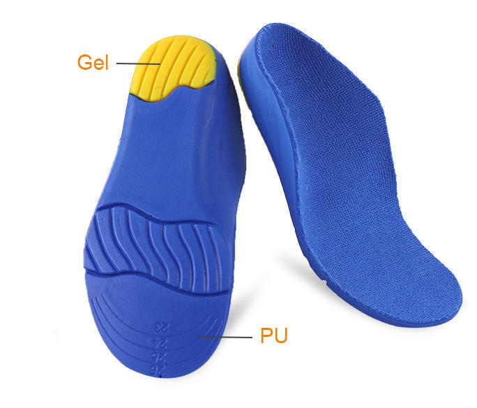 Arch support shock absorption anti-skid sports and leisure cuttable full pad for Children's flat foot sole