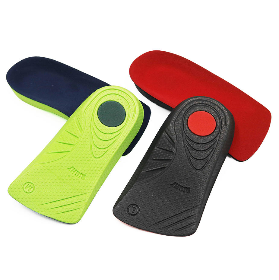 Unisex flat foot heel pad sports shock absorption arch support velvet surface anti-slip sweat-absorbent