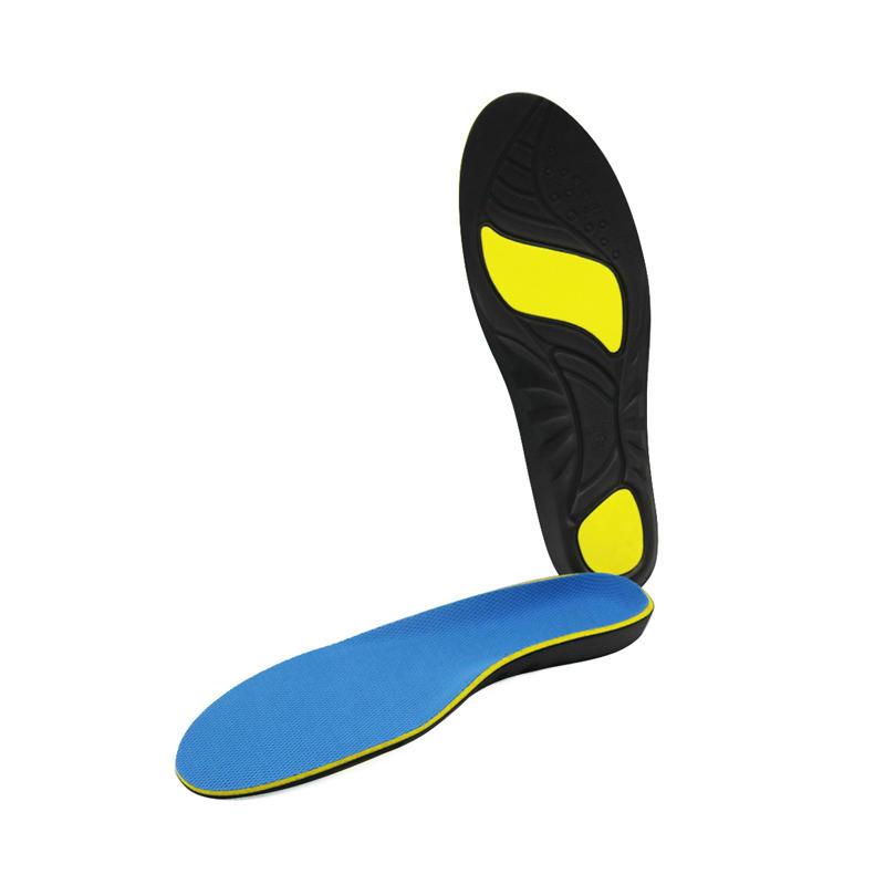 Three layers full length medical orthotic shoe insoles for bowlegs correction with arch supports