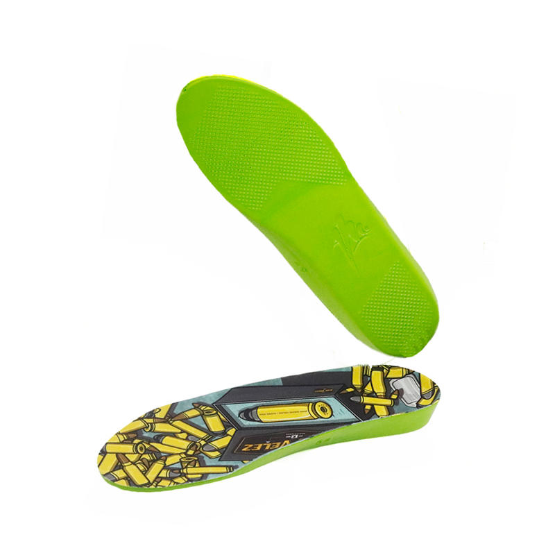 PU Memory polyurethane Foam Shock Absorption Insoles for Sport Pain Relief