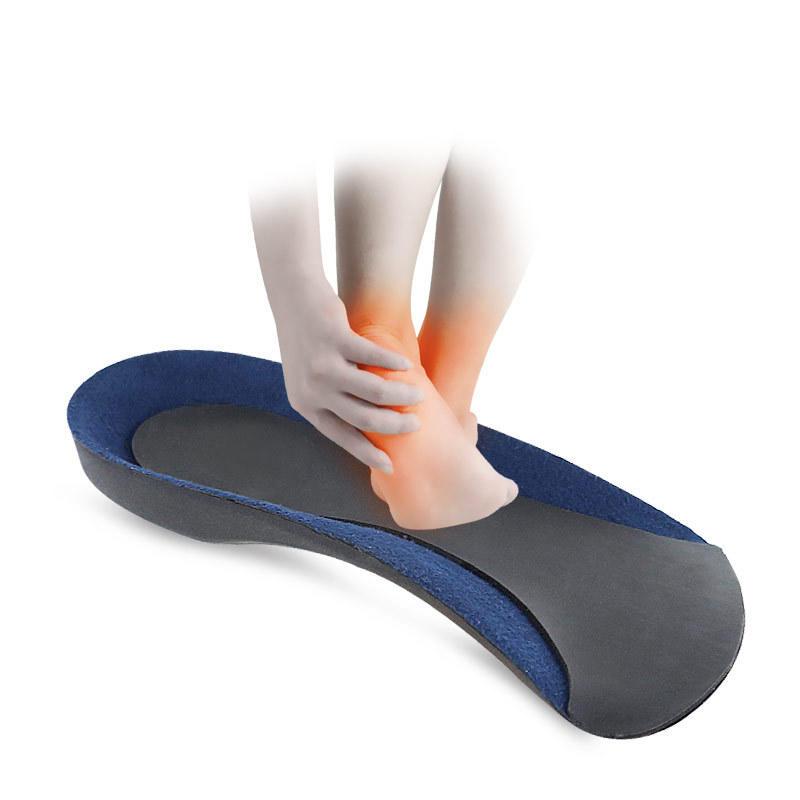 Faux leather 3/4 half-pad high elastic orthopedic insole EVA arch orthopedic soft rear heel pad