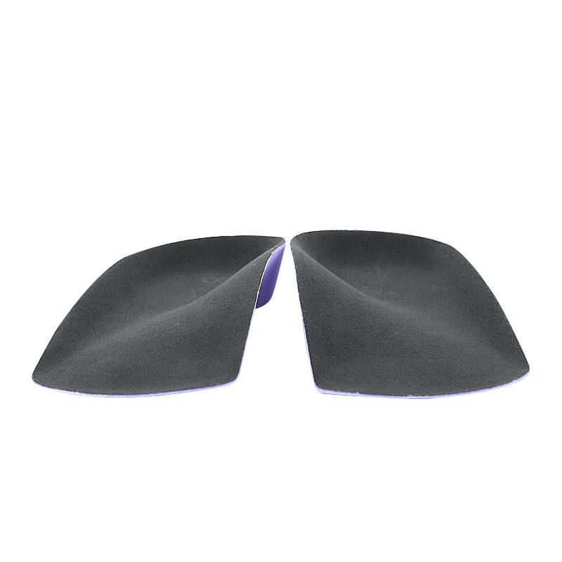 Faux suede surface EVA  3/4 half-pad high elastic arch support orthotic rear pad orthopedic insole