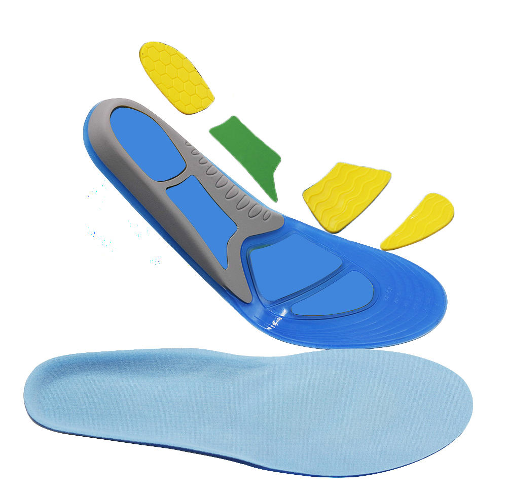 Comfort Gel Insoles for Shock Absorption Heel Protection Relieve Foot Pain for Men & Women