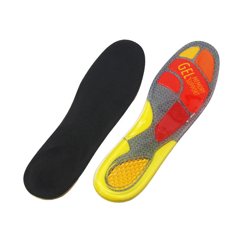 GEL Insoles Sport Running Inserts Shock Absorption Foot pain & Plantar Fasciitis Relief