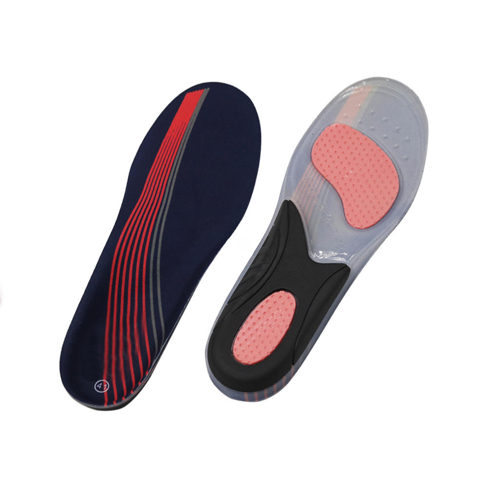 Sport cushioning shoe insole Hotselling custom logo best comfort shock absorbing gel field pain relief
