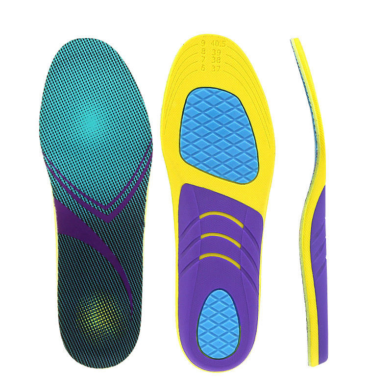 Arch support shoe insoles shock absorption soft high elasticity anti-torsion sporting
