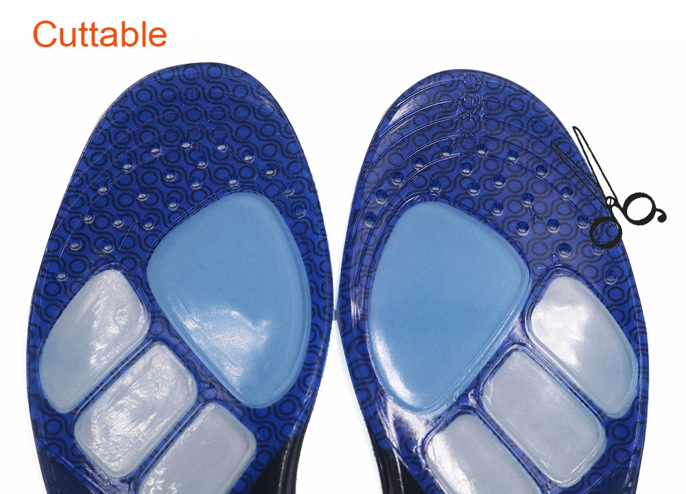 product-S-King-Gel sports insole Foot balance shock absorption Antibacterial with color block-img