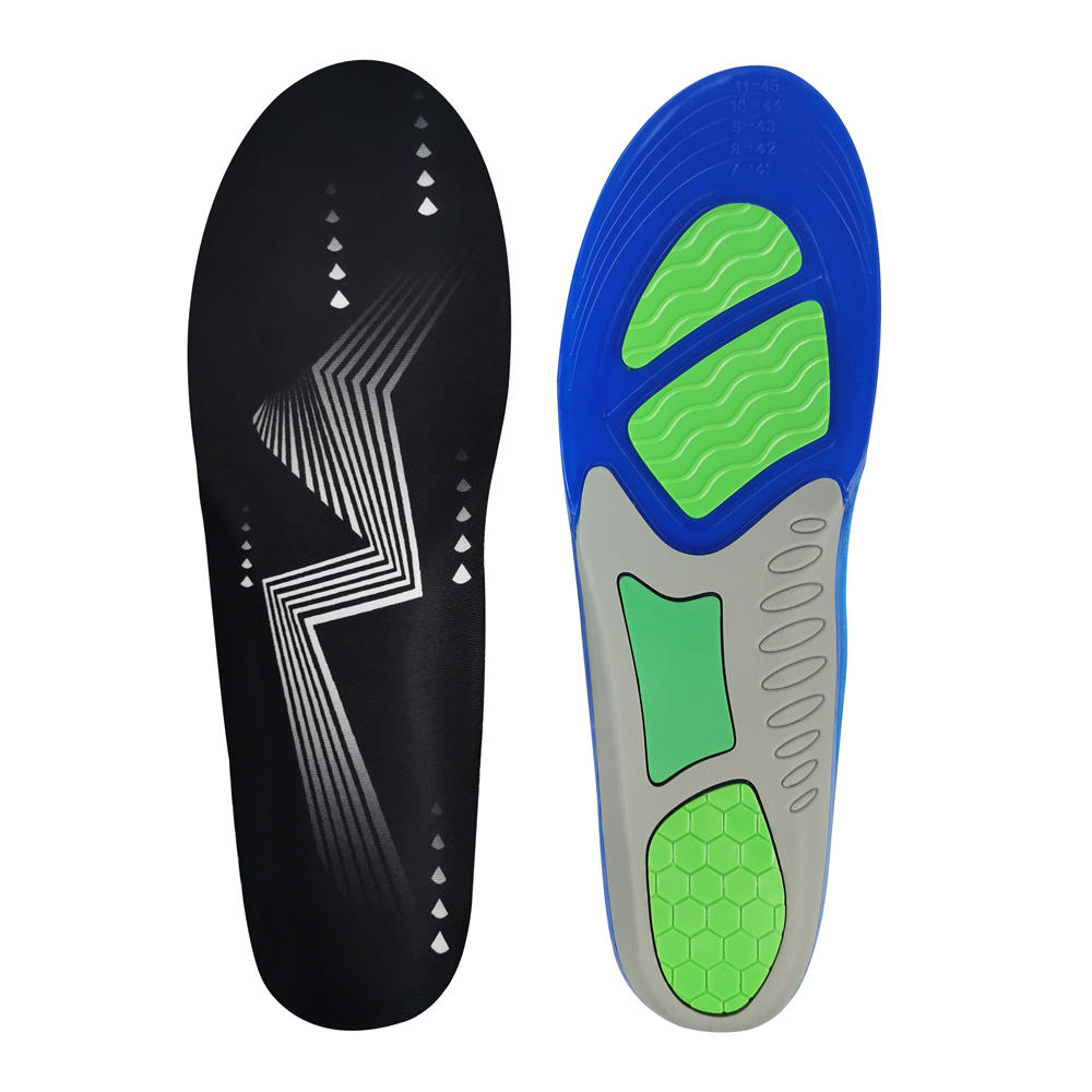 3 Color Unisex TPE/ TPR gel release fatigue secret Anti Swear Athletic shockproof sneaker insole