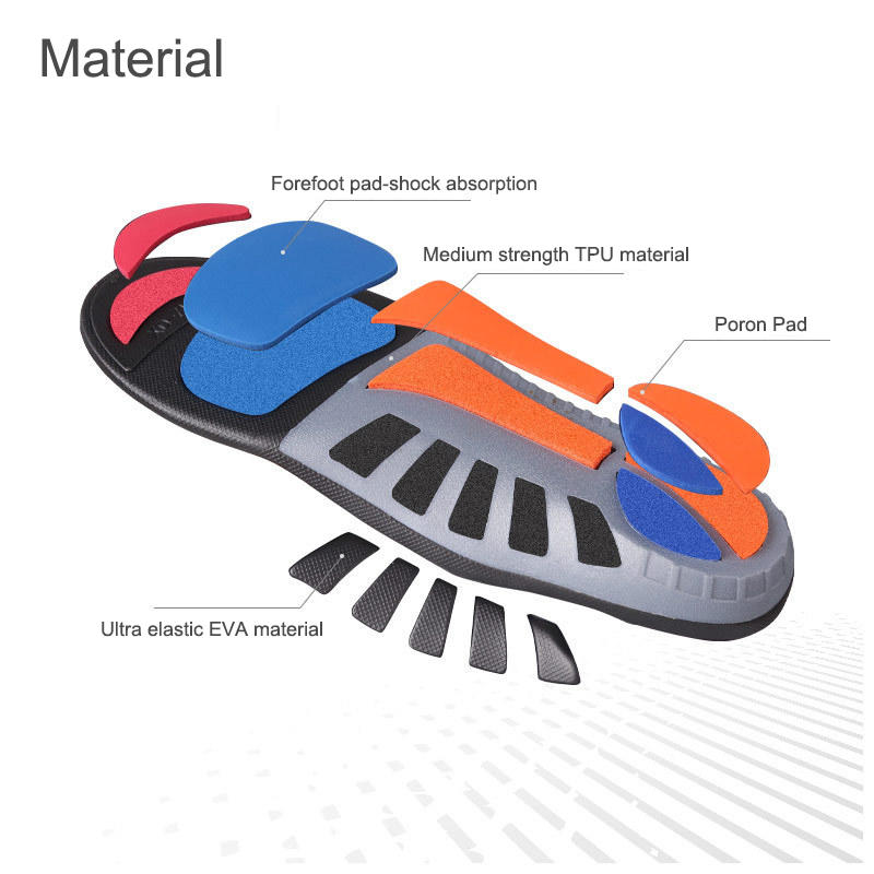 Ultra elasticity shock absorption sporting full length XO foot correction arch support orthotic Poron shoe insoles