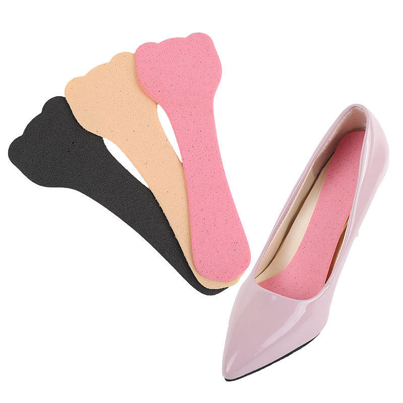 Breathable high heel shoe insole moisture-wicking and sweat-absorbent sponge with anti-slip stickers