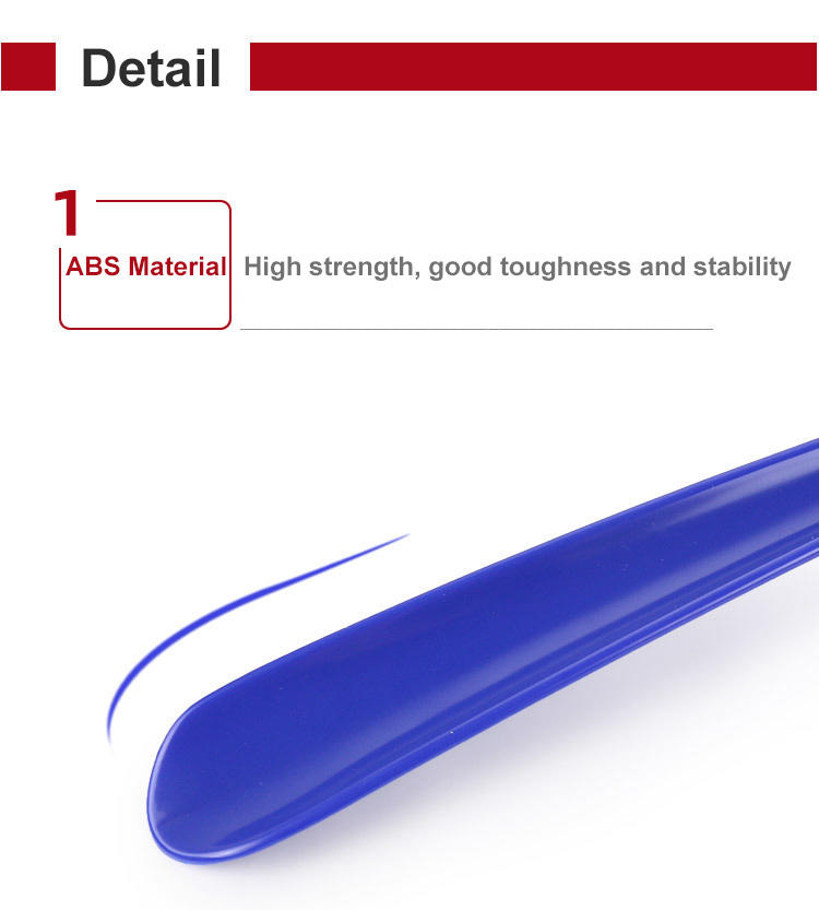 ABS shoehorn convenient for the elderly and pregnant women to wear shoes without bending straight handle shoehorn