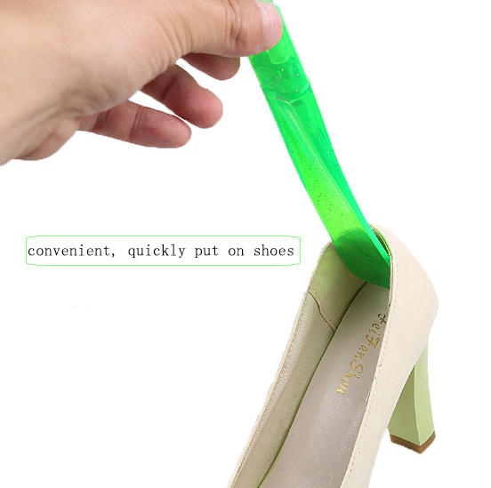 Colored PVC shoehorn, Lazy extend shoes shoehorn