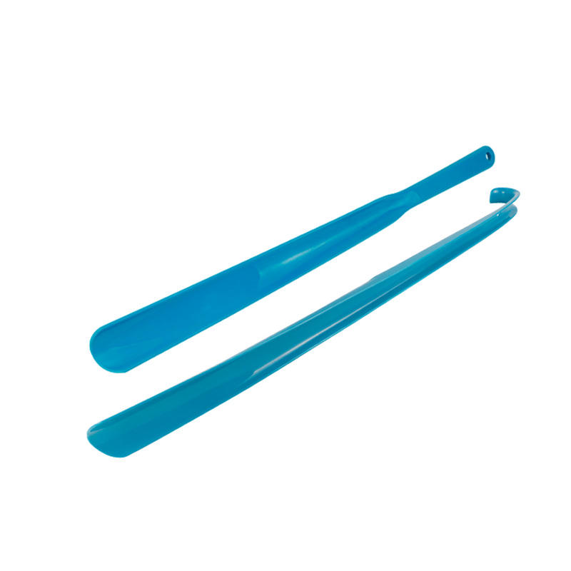 Durable colorful plastic shoehorn Hook Long Handle customized logo