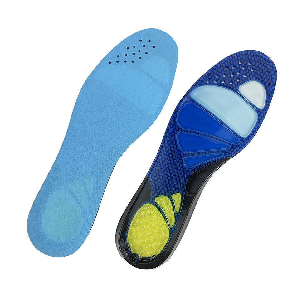Custom printed shoe insole Wholesale silicone gel magnetic sport foot massage orthotic arch support