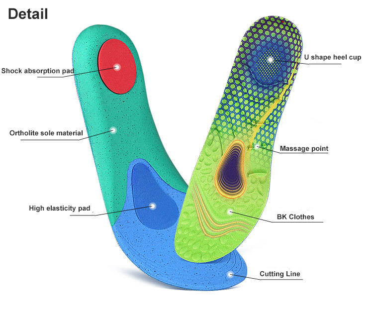 Sport ortholite shoe insoles Comfortable unisex Sports full cushion foot massage sweat absorption shock absorption