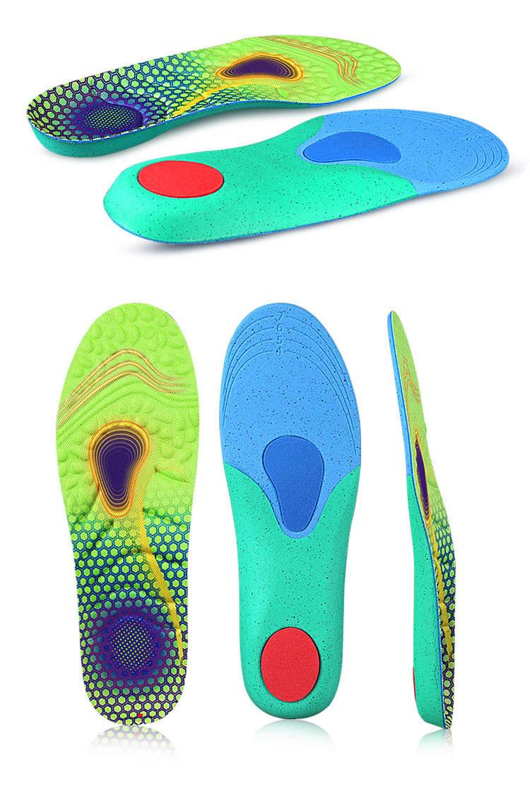 Sport ortholite shoe insoles Comfortable unisex Sports full cushion foot massage sweat absorption shock absorption