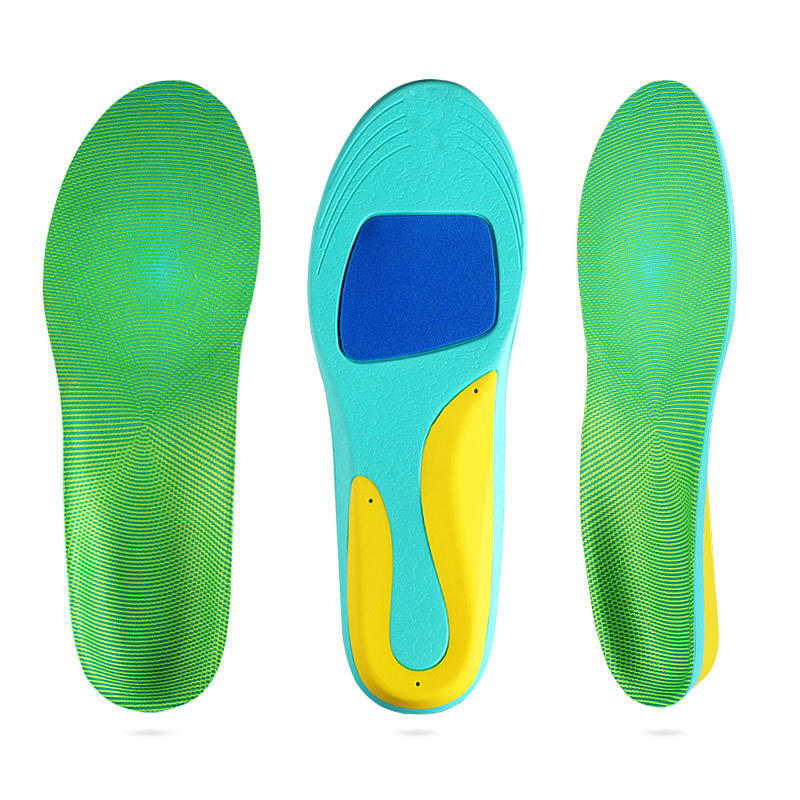 Arch support full pad female soft insoles Men's basketball running shock absorption flat foot support sweat-absorbent non-slip