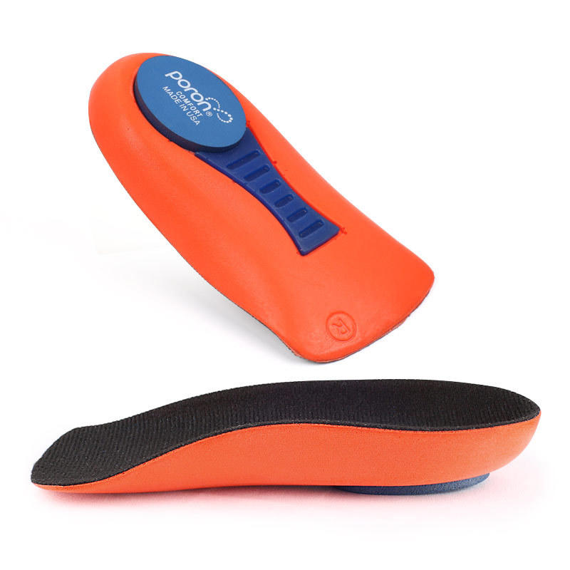 Orthotic Multifunction Insole Comfortable Arch Support Shoe Shockproof 3/4 Length Customized Poron Material