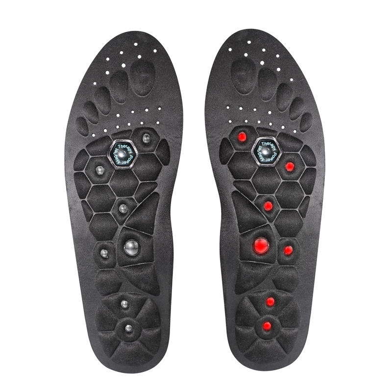 Magnetic Acupuncture Insoles Washable and Cuttable Foot Therapy Pain Relief Acupressure Massage
