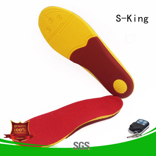 S-King innovative electric heated shoe insoles for sale biking