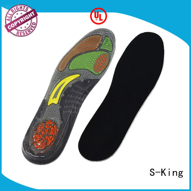 S-King Custom cooling gel insoles for fetatarsal pad